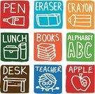 Lunch Box,Symbol,Computer Icon,Teacher,Child's Drawing,Apple - Fruit,Gift,Alphabet,Pencil,Crayon,Icon Set,School Lunch,Packed Lunch,Text,Lifestyles,Education,Literature,Square,Textbook,Lunch,Colouring Pencil,Vector,Alphabetical Order,Vector Icons,School Icons,Insulated Drink Container,Lifestyle,Desk,School Desk,Large Group of Objects,Concepts And Ideas,Drink,Block,Book,Single Word,Homework,Design Element,Collection,Illustrations And Vector Art,Learning,hand drawn,Eraser,One Person,White Background,Pen,Drawing - Art Product