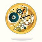 Clock,Wheel,Gold,Watch,Gearshift,Clockworks,Vector,Industry,Machinery,Steel,Motion,Time,Circle,Technology,Engine,Accuracy,Close-up,Metallic,Gearwheels,Minute Hand,Gear,Machine Part,Turning