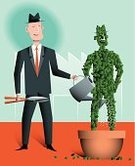 Watering,Pruning,Illustrations And Vector Art,Business,Business Concepts,Vector Cartoons,Factory,People,Care,Businessman,Positioning,Surrogate,Topiary,Cultivated