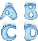 Snow,Text,Alphabet,Vector,Symbol,Typescript,Ice,Winter,Bubble,Transparent,Shiny,Set,Isolated,Blue,Capital Letter,Letter D,Letter C,Letter B,Letter A