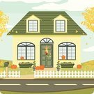 House,Real Estate Agent,Vector,Autumn,Front View,Residential Structure,Front or Back Yard,Real Estate,Shy,Door,Cute,Yellow,Outdoors,Leaf,Residential District,Simplicity,Image,Illustrations And Vector Art,Community,Halloween,Building Exterior,Non-Urban Scene,Mailbox,Beautiful,Decorating,Ilustration,Cartoon,Celebration,Window,Clip Art,Pumpkin,Falling,Day,Street,Small,Tranquil Scene,Computer Graphic,Holidays And Celebrations