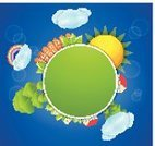 House,Summer,Circle,Frame,Sky,Blank,Backgrounds,Nature,Ilustration,Sun,Nature Backgrounds,Illustrations And Vector Art,Outdoors,Vector,Cloudscape,Springtime,Design,Nature,Vector Backgrounds,Cloud - Sky,Landscape,Tree,Season,Meadow,Leaf