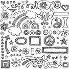 Doodle,Notebook,Sketch,Teen Pop,Heart Shape,Frame,Picture Frame,Drawing - Art Product,Arrow Symbol,Scribble,Education,Star Trail,Love,Symbols Of Peace,Swirl,Sketch Pad,Pencil Drawing,Ilustration,Yin Yang Symbol,Lined Paper,Fun,Star Shape,Star - Space,Peace Symbol,Speech Bubble,Back to School,Vector Icons,Rainbow,Hand-drawn,Vector Backgrounds,Shape,Cute,Illustrations And Vector Art,Design Element,Vector