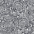 Floral Pattern,Pattern,Doodle,Flower,Seamless,Backgrounds,Black Color,Ornate,Scroll Shape,Elegance,Vector Backgrounds,Vector Florals,Vector Ornaments,Illustrations And Vector Art,Silhouette,Swirl,Abstract,Old-fashioned,Tracery