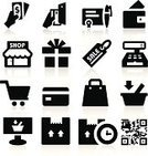 Cash Register,Symbol,Computer Icon,Icon Set,Crate,Bar Code,Retail,Credit Card,Shopping,Silhouette,Bill,E-commerce,Currency,Bag,Sales Occupation,Buying,Sale,ATM,Digitally Generated Image,Signing,Set,Business,Gift,Package,Label,Ilustration,Vector Icons,Box - Container,Isolated,Illustrations And Vector Art,Charging,Collection,Delivering,Vector,Customer Service Representative,Store,Black Color,Wallet,Shopping Cart,Calculator,Check - Financial Item