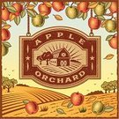 Farm,Sign,Apple - Fruit,Barn,Apple Orchard,1940-1980 Retro-Styled Imagery,Woodcut,Label,Orchard,Old-fashioned,Engraved Image,Wood - Material,Autumn,Food,Nature,Rural Scene,Text,Backgrounds,Field,Symbol,House,Tree,Agriculture,Village,Fruit,Frame,Vector,Ilustration,Plant,Painted Image,Scenics,Landscape,Hill,Land,Plantation,Vegetarian Food,Drawing - Art Product,Scratched,Textured,Branch,Horizon Over Land,Design,Season,Print,Outdoors,Leaf,Crop