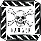 Risk,Physical Injury,Pirate Flag,Emergency Planning,Toxic Substance,Human Skull,Keep Out Sign,Skull and Crossbones,Warning Symbol,Doodle,Pencil Drawing,Danger,Illustrations And Vector Art,Science Symbols/Metaphors,Health Care,Drawing - Art Product,Security,Death,Vector,Warning Sign,Isolated,Medicine And Science,Industry,Safety,Unwell,Dead,Sketch,Unhealthy Eating,Unhygienic,Ilustration