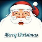 Santa Claus,Christmas,Vector,Cultures,Ilustration,Cheerful,Hat,Happiness,Beard,Smiling,Red,Computer Graphic,Holiday,Design Element,Santa Hat,Digitally Generated Image,Symbol,Blank,Blue,White,Clip Art,Design,Cute,Copy Space,Greeting,Elegance,Cartoon