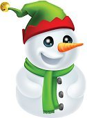 Hat,Elf,Scarf,Frost,Snowman,Christmas,Clip Art,Illustrations And Vector Art,Decoration,Winter,Cartoon,elf hat,Ilustration,Snow,Green Color,Cap,Animated Cartoon,Characters,Happiness,White,Carrot,Human Face,Snowball,Christmas,Fun,Drawing - Art Product,Isolated,Bell,Mascot,Men,Anthropomorphic Face,Vector,Holiday,Holidays And Celebrations,People,One Person,Smiling,Cute,Humor,Red,Vector Cartoons,Cheerful,Frozen