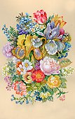 Symbol,Ilustration,Hand Colored,Watercolor Paints,Pencil Drawing,Greeting Card,Painted Image,Vibrant Color,Nature Backgrounds,Arts And Entertainment,Paintings,Brush Stroke,Pattern,Nature,Flowers,Arts Backgrounds,Formal Garden,Leaf,Multi Colored,Wet,Nature,Cut Out
