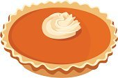 Pie,Pumpkin Pie,Thanksgiving,Pumpkin,Cake,Whipped Cream,Food,Ilustration,Baked,Cream,Beige,Food And Drink,Whipped,Orange Color,Pastry,Isolated,Pastry Crust,Dessert,Illustrations And Vector Art,Halloween,Baking,Brown,Vector,Holidays And Celebrations,Homemade,Season,White,Dessert Topping,White Background,Sweet Food