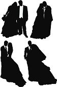 Cut Out,Computer Graphics,People,Formalwear,Well-dressed,Love,Bouquet,Togetherness,Life Events,Vertical,Studio Shot,Full Length,Black And White,Side View,Bride,Bridegroom,Standing,Carrying,Heterosexual Couple,Wedding,Cultures,Silhouette,Kissing,Adult,Multiple Image,Cut Out,Wedding Ceremony,Outline,Veil,Wedding Dress,Illustration,Celebration,Two People,Males,Men,Females,Women,Vector,Full Suit,Single Flower,White Background,Adults Only,Couple - Relationship,Husband,Wife,Newlywed,Clip Art,Silhouette