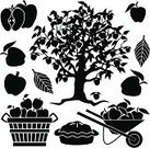 Silhouette,Apple - Fruit,Apple Tree,Apple Pie,Farm,Market,Pie,Tree,Computer Icon,Stencil,Symbol,Fruit,Harvesting,Vector,Crop,Icon Set,Black And White,Agriculture,Ilustration,Set,Agriculture,Autumn,Design Element,Clip Art,Non-Urban Scene,Nature,Black Color,Cartoon,Fruits And Vegetables,Fall,Group of Objects,Wheelbarrow,Rural Scene,Industry,Cross Section,Food And Drink,No People