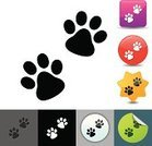 Dog,Paw Print,Paw,Domestic Cat,Symbol,Computer Icon,Track,Icon Set,Pets,Animal,Vector Icons,Illustrations And Vector Art,Animals And Pets