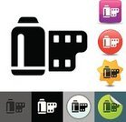 Negative,Photography,Illustrations And Vector Art,Icon Set,Objects/Equipment,Vector Icons,imagery,Container,Camera Film,Computer Icon,Symbol,35mm