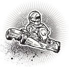 Go-cart,Go-Carting,Sports Helmet,Sport,Individual Sports,Sports And Fitness,Sports Backgrounds,Speed,Competition,Driving,Vector,One Man Only,Ilustration,Agility,Competition