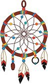 Dreamcatcher,North American Tribal Culture,Feather,Dreamlike,Southwest USA,Indigenous Culture,Spirituality,White Background,No People,Cultures,Vector,Vector Icons,Ilustration,Holidays And Celebrations,Concepts And Ideas,Clip Art,Religious Equipment,Isolated On White,Illustrations And Vector Art,Religion,American Culture,Multi Colored,Craft,Art,Color Image
