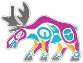 Haida,Moose,Painted Image,Art,Inuit,Indigenous Culture,Animal,North American Tribal Culture,Vector,Native American,Community,Ilustration,Sparse,Abstract,Nature,Modern,Elegance,Symbol,Shape,Indian Culture,Computer Icon,Computer Graphic,Mask,Cultures,Style,Digitally Generated Image,Label