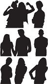 Cut Out,Computer Graphics,People,Friendship,Love,Romance,Bonding,Togetherness,Hat,Lifestyles,Vertical,Black And White,Human Body Part,Front View,Side View,Profile View,Affectionate,Human Limb,Human Arm,Standing,Holding Hands,Heterosexual Couple,Silhouette,Adult,Multiple Image,Cut Out,Arms Crossed,Outline,Illustration,Hand On Hip,Males,Men,Females,Women,Portrait,Vector,Hand Raised,White Background,Adults Only,Couple - Relationship,Husband,Wife,Girlfriend,Boyfriend,Clip Art,Silhouette,Limb