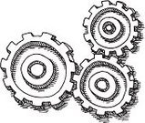Gear,Sketch,Drawing - Art Product,Doodle,Teamwork,Black And White,Ilustration,Three Objects,Technology,Symbol,Togetherness,Ideas,Connection,Concepts,Circle,Line Art,Isolated On White,Black Color,Wheel,Vector,black-and-white,Computer Graphic,Simplicity,Clip Art,Design Element,Pen And Marker,Transparent,White,No People,hand drawn