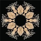 Antique,Frame,Retro Revival,Arabic Style,Old-fashioned,Circle,Ilustration,Ornate,Floral Pattern,Abstract,Illustrations And Vector Art,Vector Florals,Curled Up,Design,Pattern,Vector,Curve,Design Element,Vector Backgrounds,Vector Ornaments,Decoration,Black Color,Computer Graphic,Backgrounds,Elegance,Art