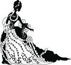 Women,Silhouette,Old-fashioned,Retro Revival,Profile View,Black Color,Nobility,Dress,Flower,Princess,Romance,Ornate,Lily,Aging Process,Grace,Curve,Holiday Backgrounds,Luxury,Elegance,Design,Beauty,Arts Backgrounds,Long,Classical Style,Fashion,Ink,Holidays And Celebrations,Relaxation,Arts And Entertainment,Decoration,Leaf,Imitation,White Background,White,Curled Up,Midsection,Body,Rococo Style,Ilustration,Vector,Corner,Beauty And Health,Computer Graphic,Wealth,Remote,Clip Art