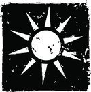 Sun,Dirty,Black Color,Summer,Simplicity,Sparse,Summer,Time,Concepts And Ideas,Vector,Nature