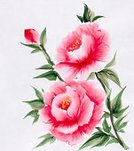 Peony,Watercolor Paints,Watercolor Painting,Single Flower,Flower,Paintings,Painted Image,Rice Paper,Red,Paper,Bouquet,Plant,Color Image,Design,Art,Art Product,Backgrounds,Freshness,Beauty In Nature,East Asian Culture,Ilustration,Vibrant Color,Ink and Brush,Springtime,Nature,Green Color,Abstract