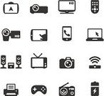 Computer Icon,Symbol,Electrical Equipment,Icon Set,Portable Information Device,Laptop,Remote Control,Home Video Camera,Television Set,Video Game,Digital Tablet,Telephone,Radio,Audio Equipment,Entertainment Center,Projection Equipment,High Definition Video Format,Computer Printer,Interface Icons,Camera - Photographic Equipment,High-definition Television,Multimedia,Speaker,Digital Camera,Global Positioning System,Group of Objects,Mobile Phone,Isolated On White,Set,Stereo,Telephone Receiver,Surround Sound,Portable Radio,Receiver