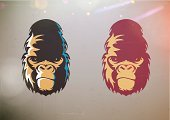 Gorilla,Monkey,Ape,Human Face,Animal Head,Monster,Animal,Mascot,Strength,King Kong,King Kong - Monster,Sign,Anger,Furious,Vector,Cruel,Characters,Insignia,Chimpanzee,Cartoon,Animal Hair,Cute,Red,Primate,Ilustration,Nature,Caricature,Concepts,Large,Threats,Placard,Fun,Symbol,Color Image,People,Computer Graphic,Art,Humor,Smirking,Aggression,Ignorance,Power,Design,Identity,Fur,mighty,Shaggy,Violence,Mammal