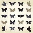 Butterfly - Insect,Computer Icon,Silhouette,Vector,Computer Graphic,Animal,Set,Insect,Animals And Pets,Insects,Image,Nature,Collection,Ilustration