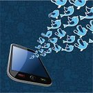 Technology,Exploding,Bird,Social Gathering,Information Medium,Mobile Phone,The Media,Telephone,Group Of Animals,Splashing,Smart Phone,Community,Global Communications,Ideas,Internet,Modern,Concepts,Togetherness,Mobility,Following,Message,Social Networking,Sharing,Connection,Blog,Blue,Satisfaction,Connect