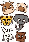 Elephant,Human Face,Animals In The Wild,Animal,Vector,Symbol,Tiger,Ilustration,Characters,Pets,Collection,Youth Culture,Arranging,Animated Cartoon,Pig,Isolated,Animal Backgrounds,Zoo,Illustrations And Vector Art,Bear,Rabbit - Animal,Nature,Fun,Cow,Cheerful,Tropical Rainforest,Animals And Pets,Cute,Vector Cartoons,Wildlife,White,Computer Graphic,Set,Happiness,Simplicity,Elegance,Wild Animals
