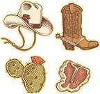 Cowboy Boot,Wild West,Barbecue,Cowboy Hat,Cactus,Steak,Parties,Meat And Alternatives,Arts Symbols,Holidays And Celebrations,Food And Drink,Arts And Entertainment