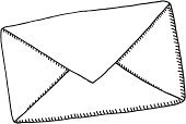 Mail,Envelope,Sketch,Black And White,Letter,Line Art,Symbol,Drawing - Art Product,Black Color,Communication,Ilustration,Doodle,Vector,hand drawn,White,Design Element,Horizontal,Isolated On White,Pen And Marker,Single Object,Clip Art,No People,black-and-white,Transparent,Simplicity