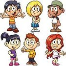 Child,Cartoon,Little Boys,Little Girls,Student,Characters,Cute,Cheerful,Thumbs Up,Vector,Isolated,Ethnic,Spanish and Portuguese Ethnicity,Asian Ethnicity,African Descent,Mixed Race Person,Asian and Indian Ethnicities,Multi-Ethnic Group,Latin American and Hispanic Ethnicity,Tan,Color Gradient,Illustrations And Vector Art,Vector Cartoons,Blond Hair,Brown Hair,Southern European Descent,Caucasian Ethnicity,Cap