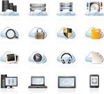 Cloud Computing,Symbol,Network Server,Icon Set,Computer Icon,Cloud - Sky,Smart Phone,Data,Digital Tablet,Document,Computer Network,Rack,Computer,Hard Drive,Vector,Padlock,Laptop,Headphones,Magnifying Glass,Shield,Picture Frame,Searching,Downloading,File