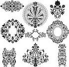 Decoration,Baroque Style,Silhouette,Frame,Flower,Vector,Pattern,Black Color,Swirl,Collection,Abstract,Set,Ilustration,Drawing - Art Product,Decor,Ornate,White,Deco,Vignette,Elegance,Art,Curled Up,Stencil,Design Element,Curve,Classical Style,Design,Old-fashioned,Shape,Isolated