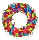 Decoration,christmas wreath,happy holidays,Isolated,Christmas,Bright,Vibrant Color,Vector,Christmas Decoration