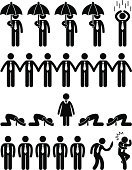 Silhouette,Businessman,People,Loneliness,Threats,Respect,Politics,Employment Issues,Female,Symbol,Fear,Men,Male,Partnership,Occupation,Boycott,Manager,Business,Teamwork,Black Color,Cooperation