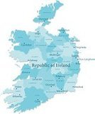 Republic of Ireland,Map,Cartography,county,County Limerick,Vector,No People,Blue,Dublin - Ireland,Clip Art,Isolated On White,Computer Graphic,Galway,County Kilkenny,Digitally Generated Image,Lough Corrib,Country - Geographic Area,Ireland Map,region,Travel Destinations,Europe,bann,Color Image,Vertical,Non-Urban Scene,lough derg,Ilustration,Isolated