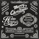 Christmas,Holiday,Retro Revival,Happiness,Old-fashioned,Blackboard,Frame,Label,Chalk Drawing,Chalk - Art Equipment,Placard,New Year's Eve,Text,Design Element,Banner,Doodle,New Year's Day,Christmas Decoration,Drawing - Art Product,Christmas Ornament,Victorian Style,Sketch,Vector,Holly,Scroll Shape,Elegance,Silhouette,Decoration,Snowflake,Lace - Textile,Winter,Ilustration,Ornate,Pencil Drawing,Collection,Sign,Grunge,Ribbon,Set