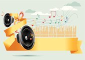 Broadcasting,Sound Wave,Dance And Electronic,Ilustration,Rock and Roll,Sound,Abstract,Vector,Electro Pop,Multi Colored,Backgrounds,Modern,Ribbon,Treble Clef,Radio,Symbol,Speaker,Cloudscape,Electrical Equipment,Plastic,Copy Space,Cloud - Sky,Music,Youth Culture,Sound Recording Equipment,Funky,Design,Modern Music,Spotted,Design Element,Audio Equipment,Entertainment,Stereo,Yellow,Cool,Interconnect,MP3 Player,Pastel Colored,Record,Headphones,Musical Note,Label,Shiny