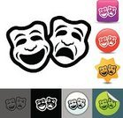 Computer Icon,Symbol,Costume,Comedy Mask,Tragedy Mask,Art,Acting,Facial Expression,Humor,Performance,Sadness,Happiness,Mask,Simplicity,Smiling,Laughing,Computer Graphic,Frowning,Performing Arts Event,Single Object,Crying,Clip Art,Vector,Depression - Sadness,Theatrical Performance,Digitally Generated Image,Design Element