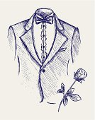 Wedding,Scribble,Sketch,Drawing - Art Product,Drawing - Activity,Doodle,Tuxedo,Married,Clothing,Fashion,Engraved Image,Bow Tie,Abstract,Pencil Drawing,Sepia Toned,Formalwear,Event,Scroll Shape,Style,Creativity,Beauty,Uniform,Elegance,Modern Rock,Art,Handwriting,Valentine's Day - Holiday,Outline,Beautiful,Hand-drawn,Image,Celebration,Teen Pop,freehand,Design,Ilustration,Vector,Single Flower,Romance,Rough,Incomplete,Computer Graphic,1940-1980 Retro-Styled Imagery,Art Product,Graffiti