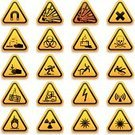 Laser,Symbol,Computer Icon,Acid,Battery,Road Sign,Warning Sign,Danger,Safety,Sign,Warning Symbol,Slippery,Chemistry,Crane - Construction Machinery,Radioactive Warning Symbol,Biohazard Symbol,Flame,Magnet,Explosive,Wet Floor,Radiation,Death,heavy machine,Ilustration,Vector,Eyesight,Electricity