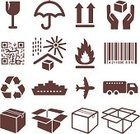Symbol,Box - Container,Freight Transportation,Shipping,Icon Set,Fragile,Cardboard,Truck,Bar Code,Cargo Container,Arrow Symbol,Recycling,Seal - Stamp,Recycling Symbol,Airplane
