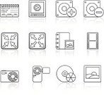 Series,Home Video Camera,Sparse,Speaker,Music,Video,Symbol,Zoom Out,Black Color,Icon Set,Vector,Isolated On White,Photography,Film,CD,Film Reel,Camera Film,Photo Album,Playing,Movie,Film State,Sign,Audio Equipment,Interface Icons,Abstract,Silhouette,Book,Set,Zoom In,DVD,Collection,Digital Camera,Sound Mixer,Design Element,Color Gradient,Paintings,Web Page,Volume,Burning,Computer Icon,Reflection,Reproductor,Multimedia