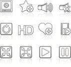Symbol,Computer Icon,Adulation,Sparse,Movie,Silhouette,Sign,Design Element,user interface,full screen,Control,Resting,Icon Set,Black Color,Entertainment,Film,Option Key,Collection,Abstract,Speaker,Sound,Isolated On White,Menu,Play,Reflection,Volume,Technology,Interface Icons,Series,Shiny,Star Shape,Music,Film Reel,Playing,High-definition Television,Control Panel,Multimedia,Visual Screen,Web Page,MP3 Player,Vector,Set,Setting,Color Gradient,High Definition Video Format