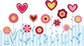 Retro Revival,Flower,Heart Shape,Love,Romance,Nature,No People,Vector,Abstract